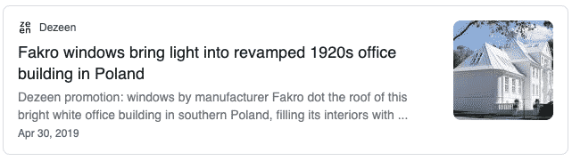A link to FAKRO roof windows in Poland 1920's office.
