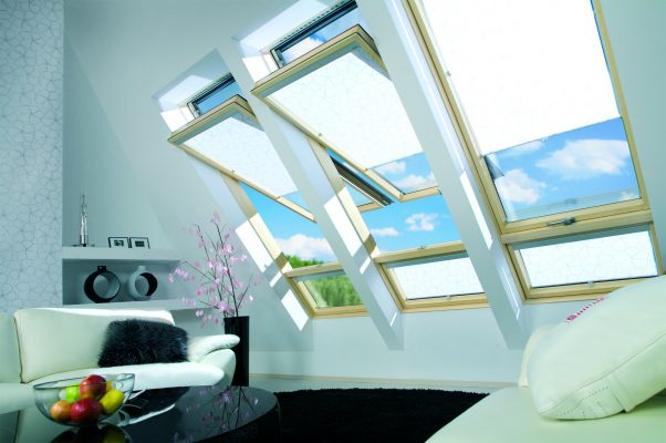 Turn your attic space into a living room with skylights