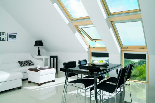 Living room skylights